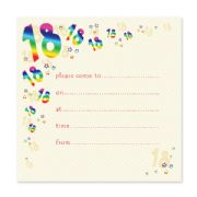 Pack of 10, 18th Birthday Party Invitations